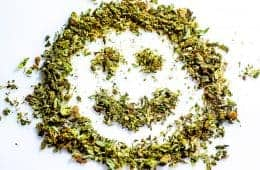 Marijuana smiley face