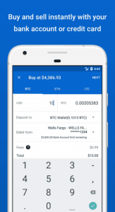 Buy and Sell on Coinbase