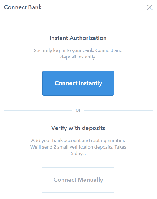 Coinbase - Instant authorization
