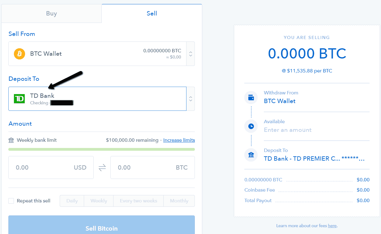 Coinbase - buying coins