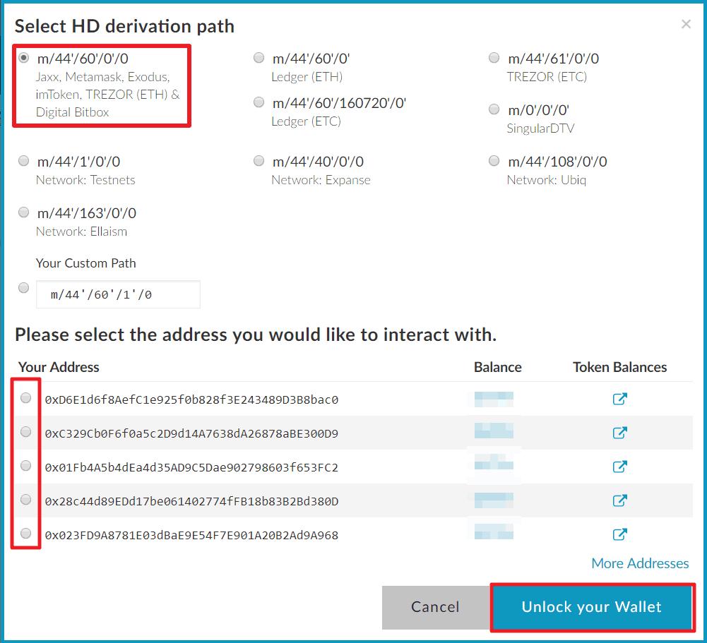 Bitbox MyEtherWallet Integration 2