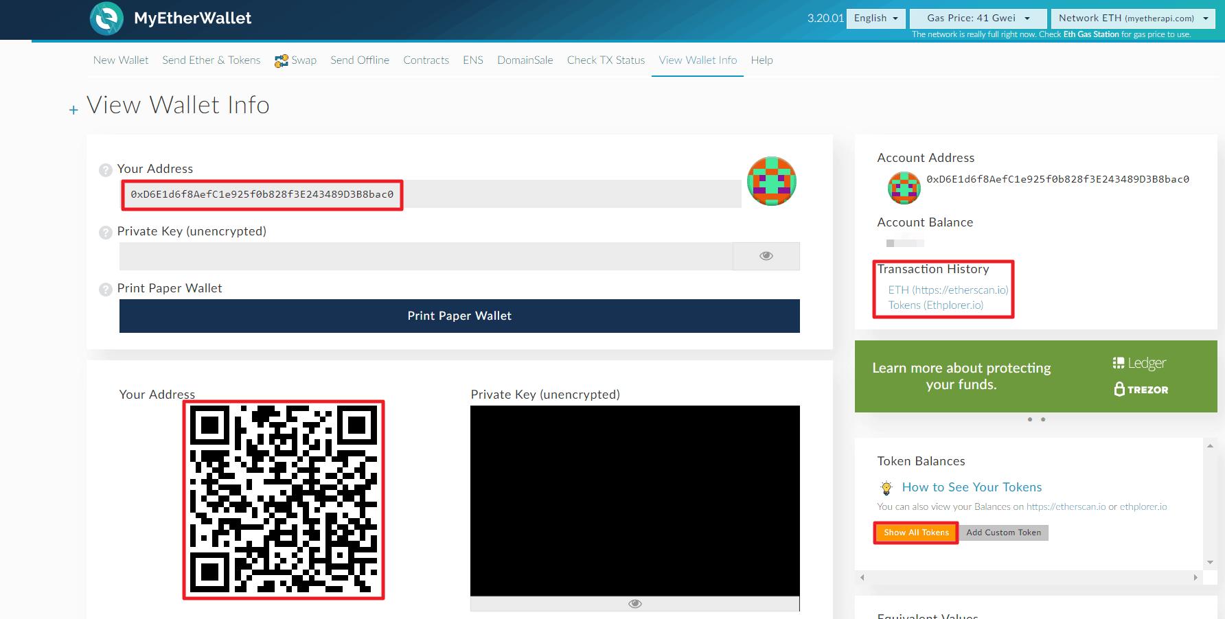 Trezor MyEtherWallet Integration