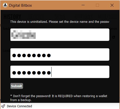 Digital Bitbox Setup 3