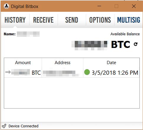 Bitbox Transactions