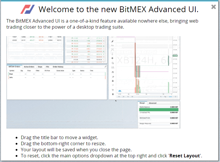 Bitmex advanced UI