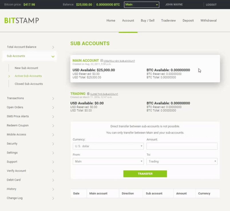 Bitstamp accounts
