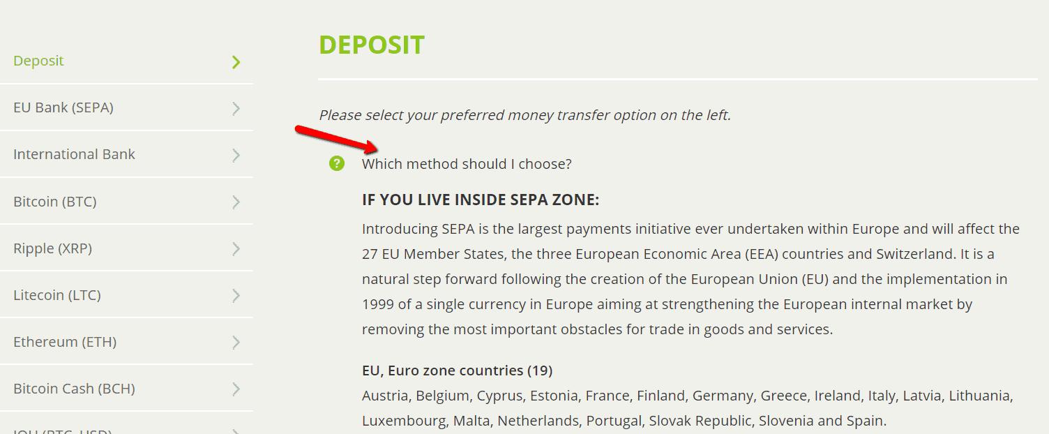 Bitstamp exchange - Payment