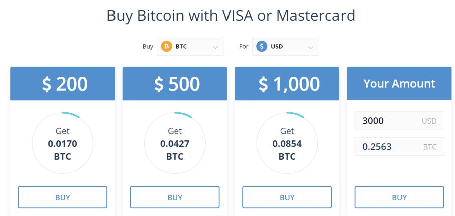 CEX.io buy bitcoin credit card or debit card