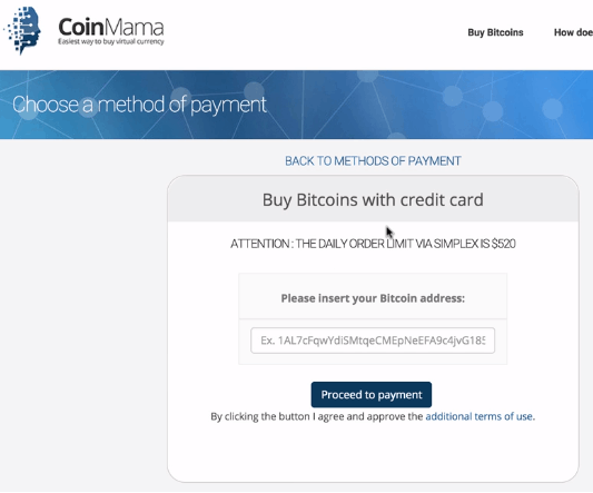 Coinmama buy bitcoin with credit card