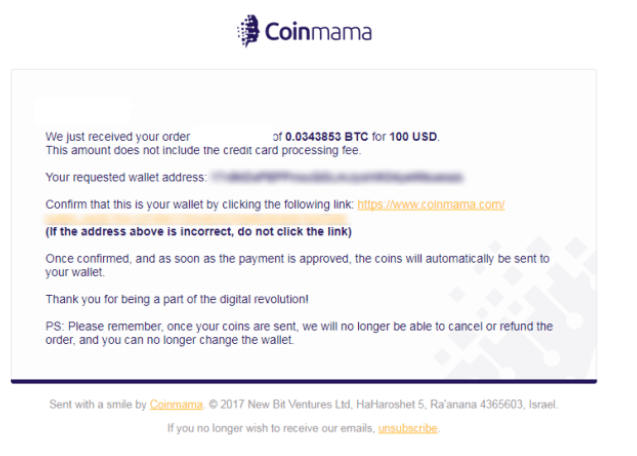 Coinmama Purchase crypto