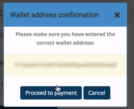 Coinmama wallet address confirmation