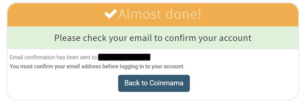 Coinmama Signup 2