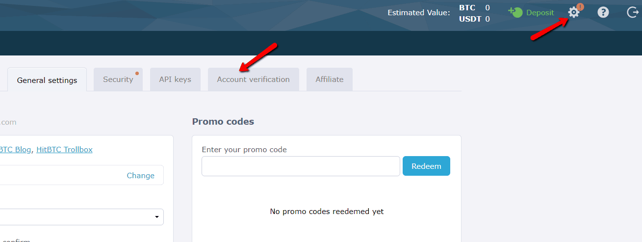 HitBTC Crypto Exchange verification