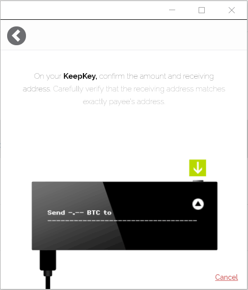 KeepKey Send BTC 4