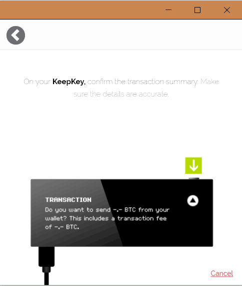 KeepKey Send BTC 5