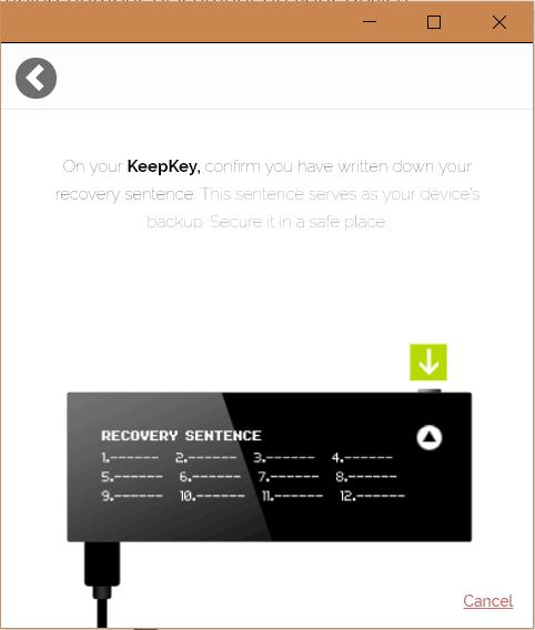 KeepKey Setup 3
