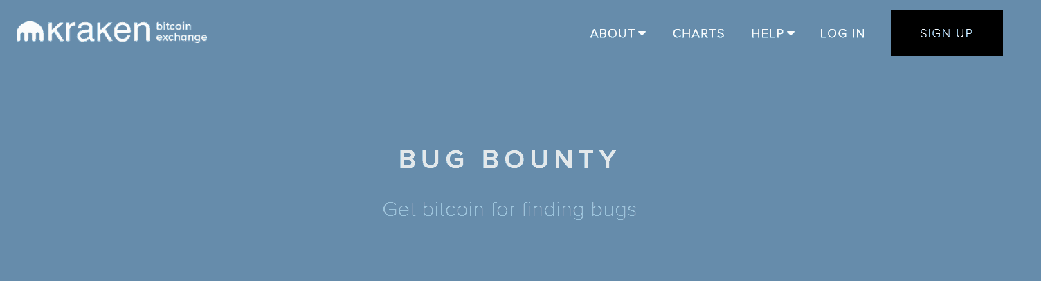 Kraken exchange bug bounty