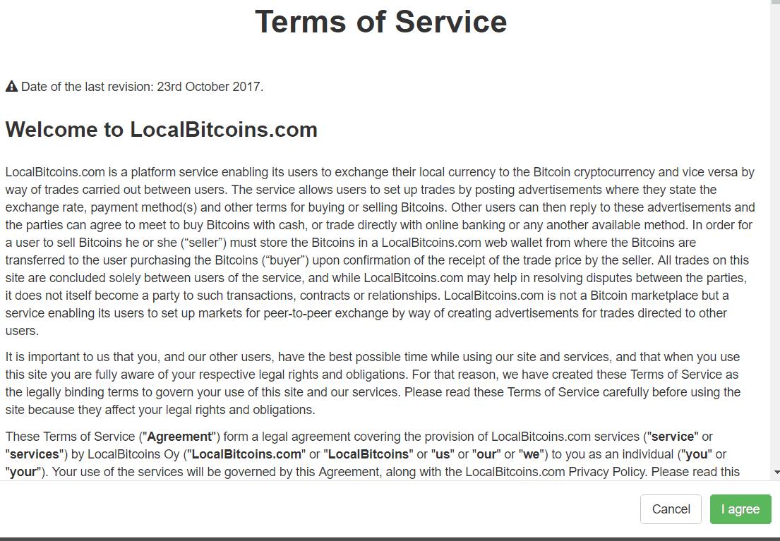 LocalBitcoins.com Signup