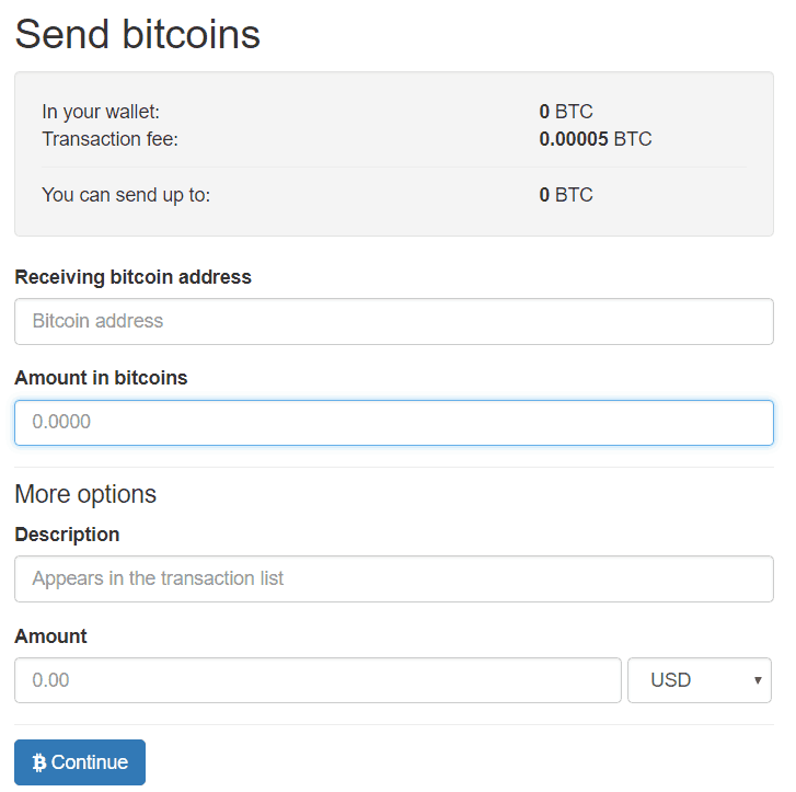 LocalBitcoins - send money