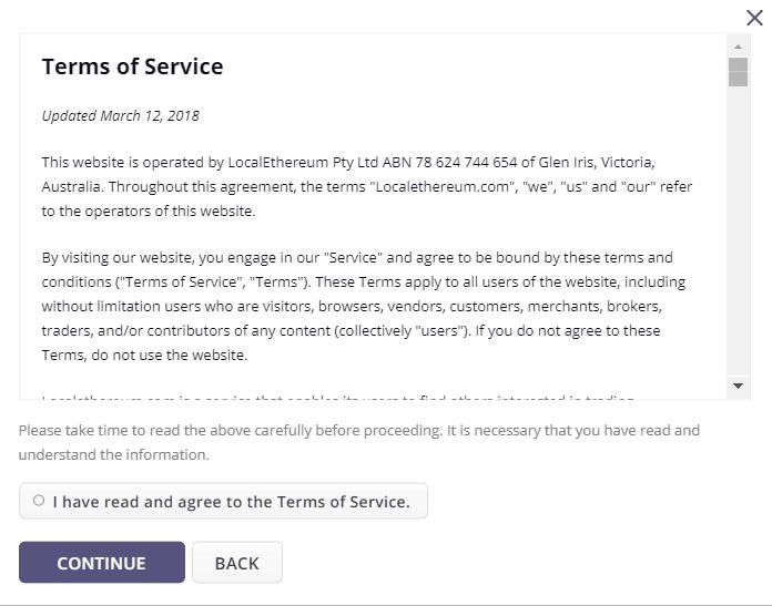 LocalEthereum.com - Terms of Service