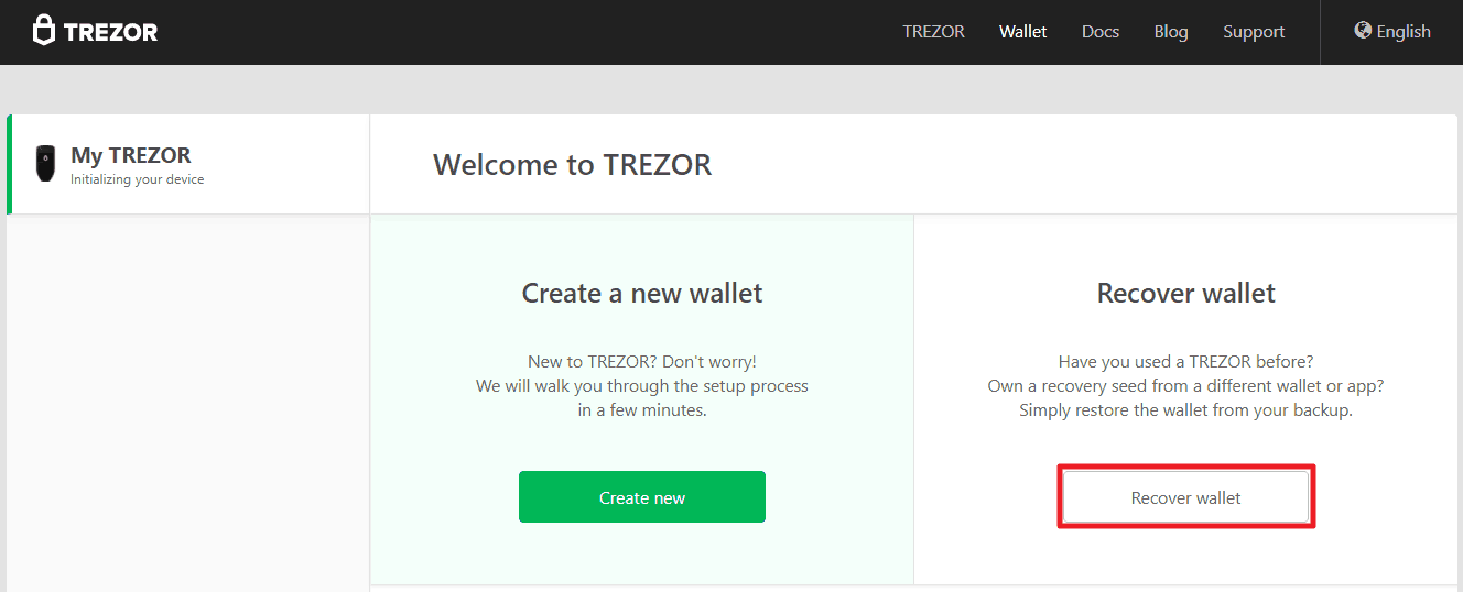 How to recover Trezor wallet