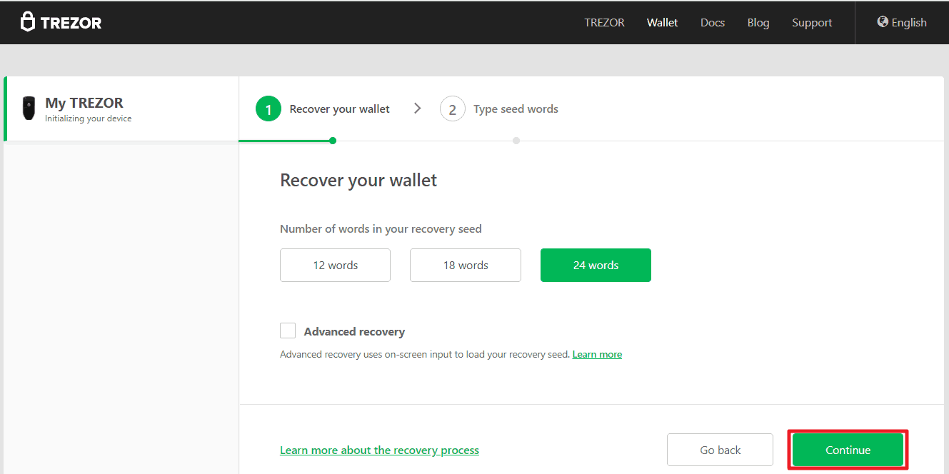 How to recover Trezor hardware wallet