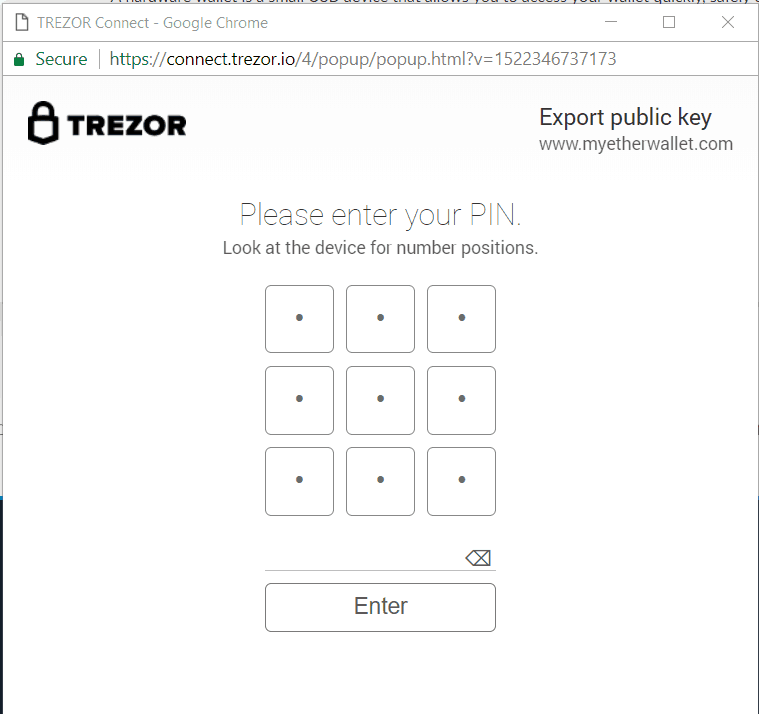 Trezor Send Ethereum - PIN