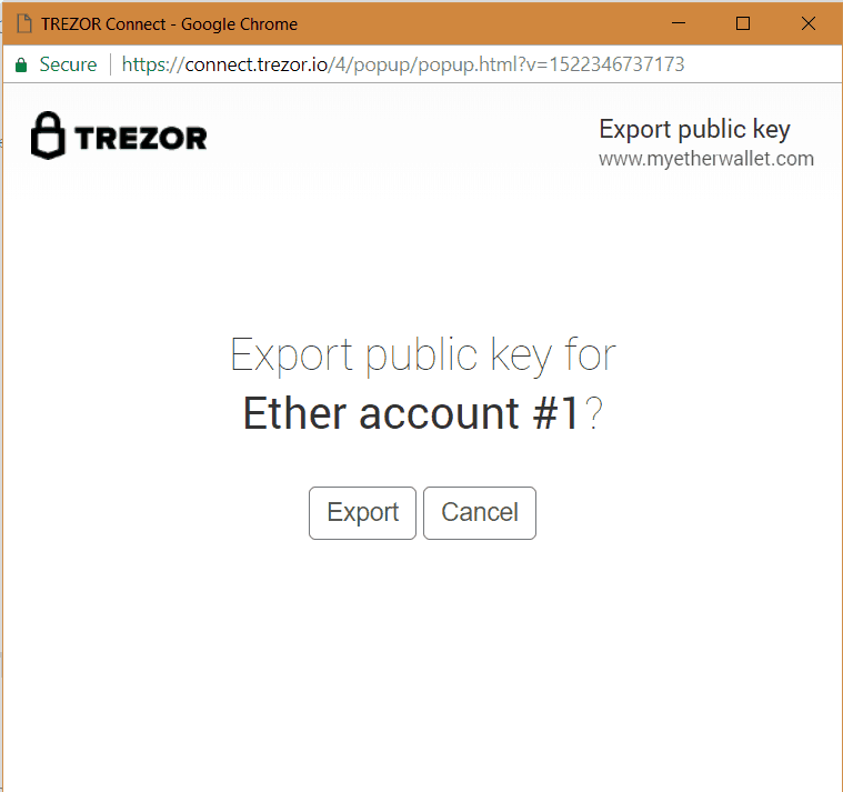 Trezor Send Ethereum - public key