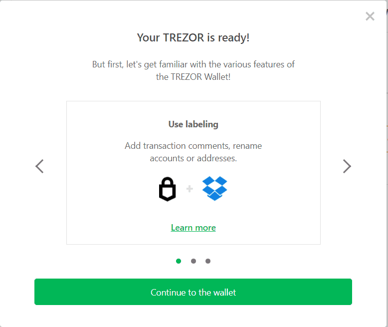 Trezor Bridge setup