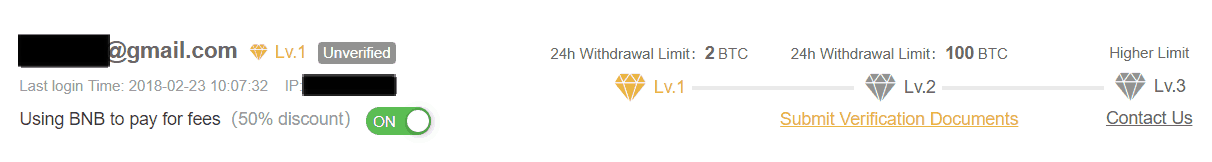 binance verification