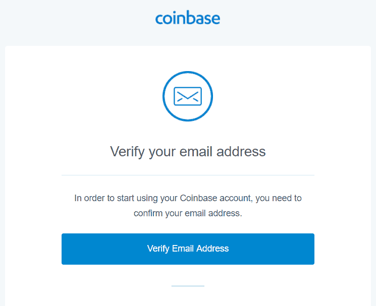 Coinbase - verify email address