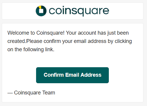 Coinsquare confirmation