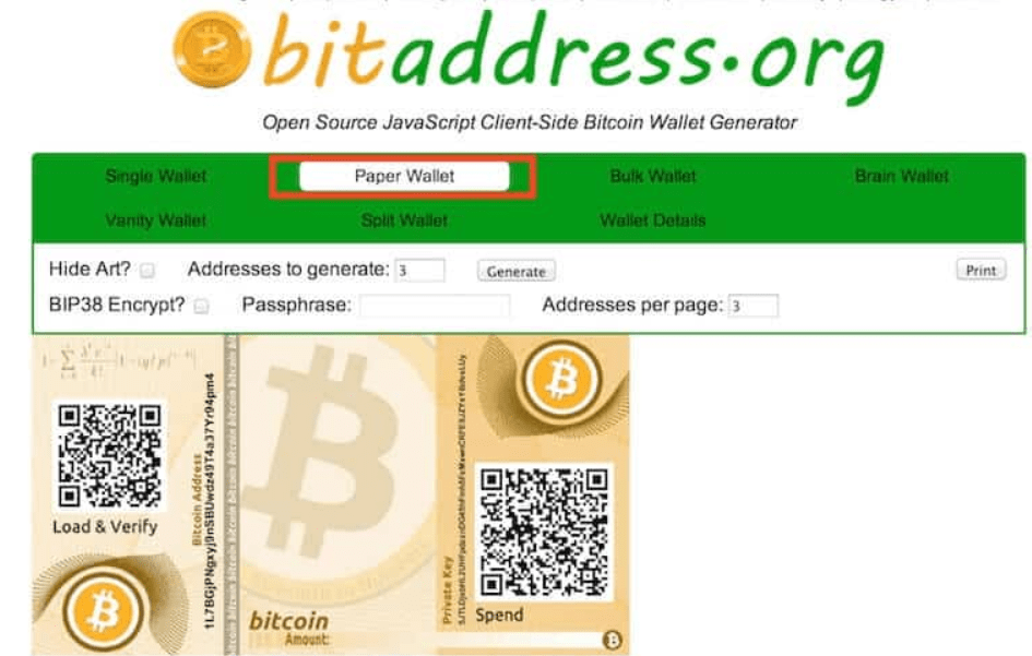 How to make a paper wallet Bitcoin / Ethereum