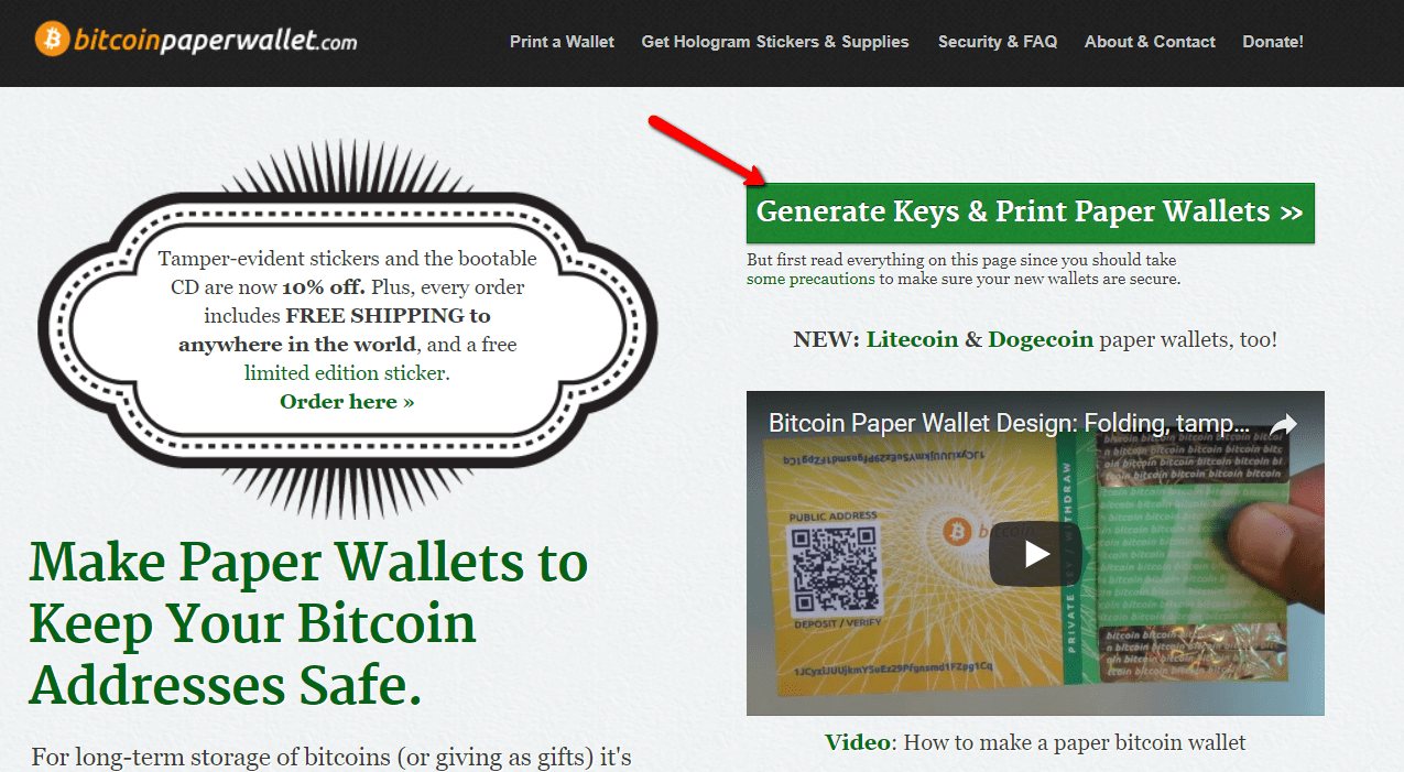 Cryptocurrency wallets - Get Bitcoin Paper Wallet website