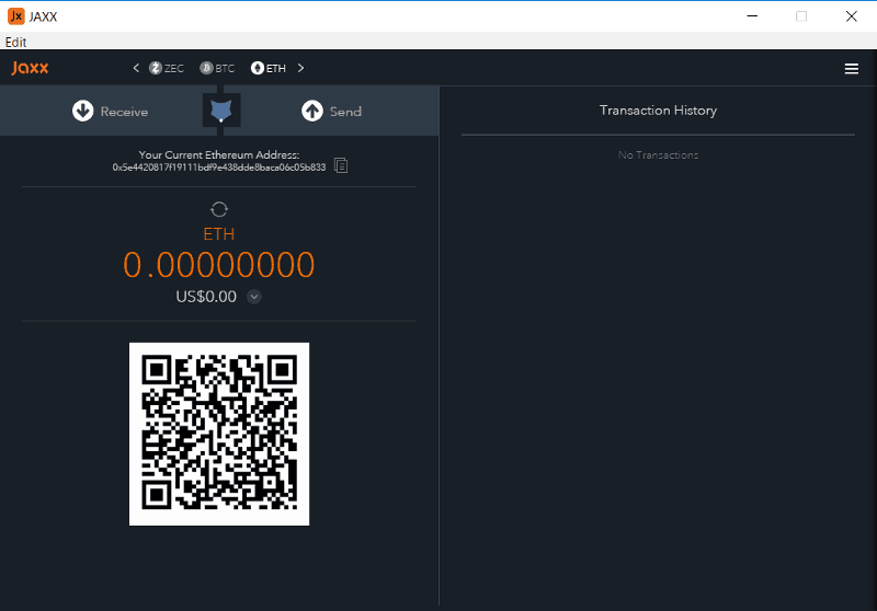 Jaxx user interface