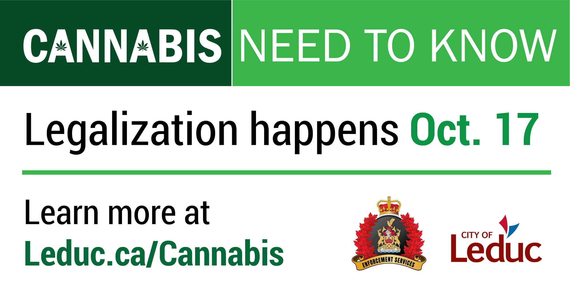City of Leduc - cannabis pot awareness campaign