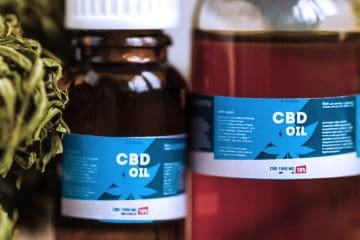 mj - CBD oil bottles
